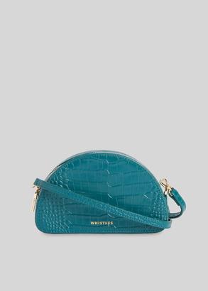 Jasmin Croc Half Moon Bag