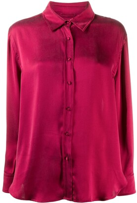 L'Autre Chose Button-Up Silk Shirt