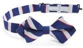 Nordstrom Boy's Stripe Cotton & Silk Pointed Bow Tie
