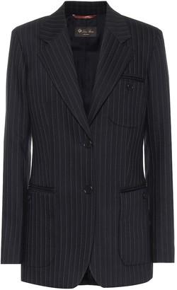 Loro Piana Pinstriped stretch wool-blend blazer