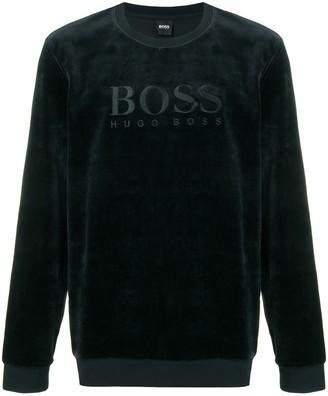 BOSS logo long-sleeve sweatshirt