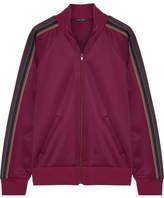 Marc Jacobs Striped Tech-jersey Jacket - Burgundy