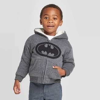 DC Comics Toddler Boys' Warner Bros DC Comics Hooded Sweatshirt - Heather Charcoal
