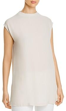 Eileen Fisher Silk Funnel Neck Tunic Top