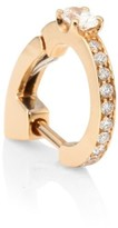 Repossi Pave Diamond & 18K Rose Gold Hoop Single Earring