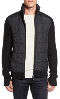 Bench Head Quilt Panel Zip Sweater