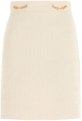 Gucci Horsebit Tweed Skirt