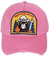 DSQUARED2 Bear Patch Gabardine Baseball Hat
