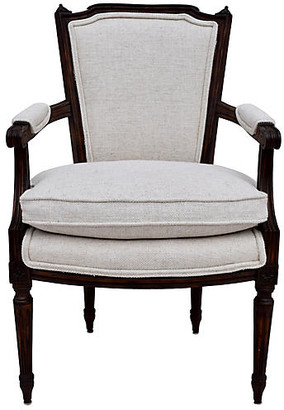 One Kings Lane Vintage Louis XVI-Style French Walnut Fauteuil - Cannery Row Home