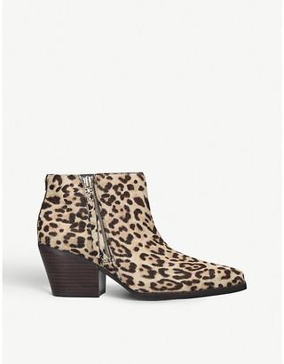 Sam Edelman Walden leopard-print leather ankle boots