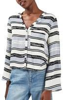 Topshop Women's Split Sleeve Crop Top