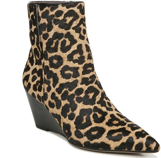 Franco Sarto Leopard-Print Wedge Booties - Athens 2