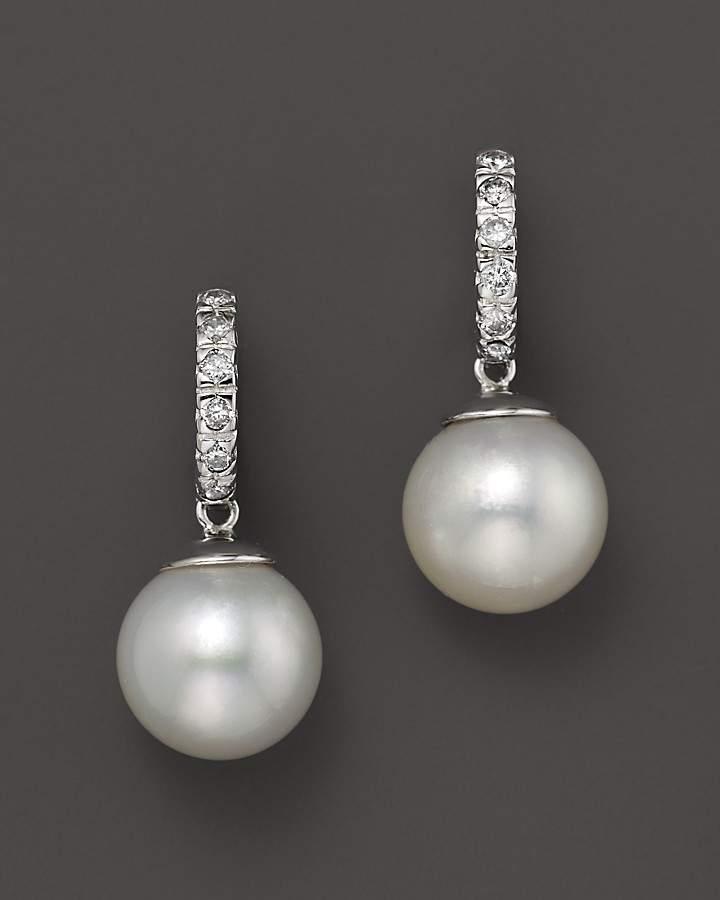 Bloomingdale's South Sea Cultured Pearl and Diamond Earrings, 10mm