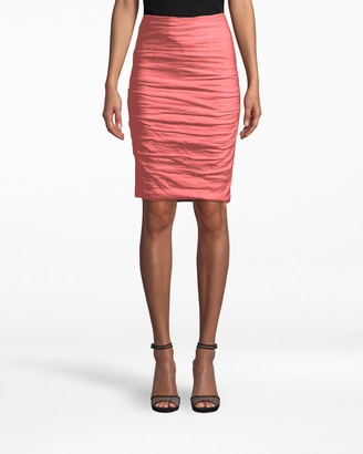 Nicole Miller Cotton Metal Sandy Skirt