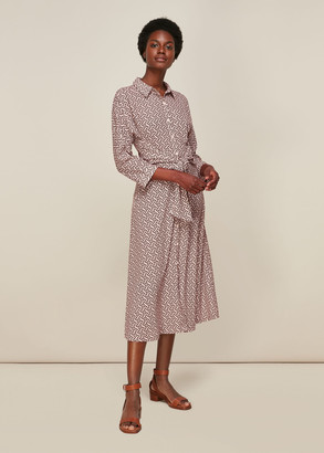 Snaffle Shirt Tie Front Dress
