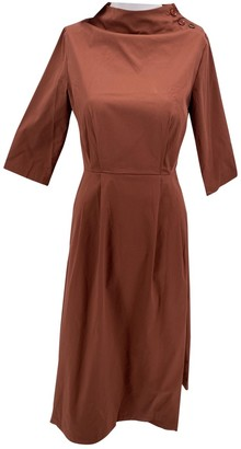 ALBUS LUMEN Brown Cotton Dresses