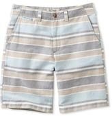 L.L. Bean Bean's Summer Shorts, Standard Fit Linen/Cotton Stripe