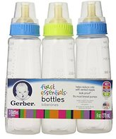 Gerber First Essentials Bottles - Assorted Colors - 3 Pack by Graduates