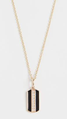 Sydney Evan 14k Tiny Dog Tag Necklace