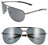 Smith Men's 'Serpico' 66Mm Polarized Sunglasses - Gunmetal/ Grey