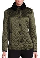Burberry Ashurt Shearling-Trimmed Quilted Jacket