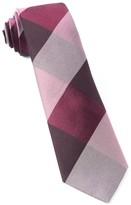 The Tie Bar Burgundy West Bison Plaid Tie