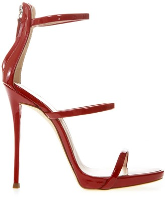 Giuseppe Zanotti Harmony Red Leather Sandals