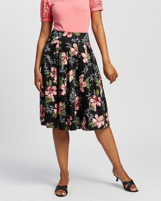 Review Women's Multi Midi Skirts - Sunset Island Skirt - Size One Size, 6 at The Iconic
