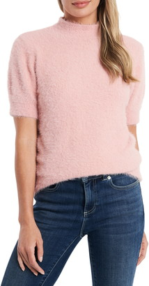 CeCe Eyelash Mock Neck Sweater