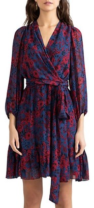 Shoshanna Catherine Printed Wrap Dress