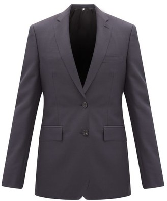 Burberry Single Breasted Wool Blend Crepe Two Piece Suit - Mens - Navy