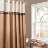 Lush Decor Terra Shower Curtain, 72 by 72-Inch, Beige/Ivory