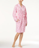 Charter Club Cotton Floral-Print Short Robe, Created for Macy's