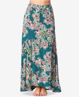 O'Neill Juniors' Samara Floral-Print Maxi Skirt