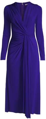 Jason Wu Collection Jersey V-Neck Long Sleeve Twist Cocktail Dress