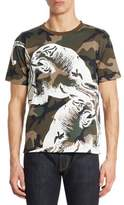 Valentino Panther Camo-Print Cotton Tee