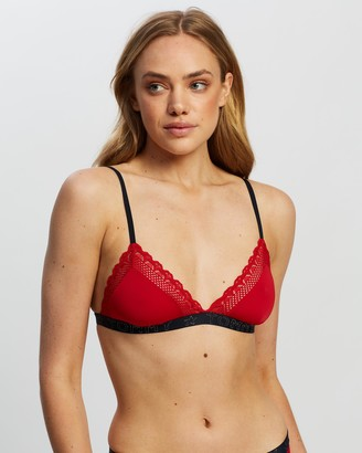 Tommy Hilfiger Scallop Lace Holiday Triangle Bralette