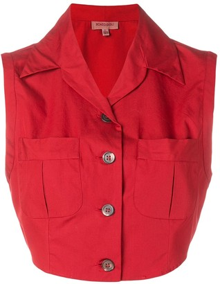 Romeo Gigli Pre Owned 1990's Cropped Blouse