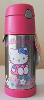 Hello Kitty Funtainer Thermos For Cold Liquids, 12 oz
