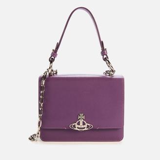Vivienne Westwood Women's Debbie Medium Bag with Flap - Purple