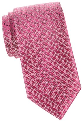Charvet Abstract Floral Silk Tie