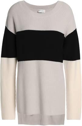 Amanda Wakeley Color-block Merino Wool Sweater