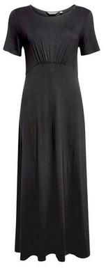 Dorothy Perkins Womens Black Empire Seam Midi Skater Dress, Black