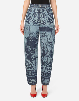 Dolce & Gabbana Amber Jeans With Carretto Print