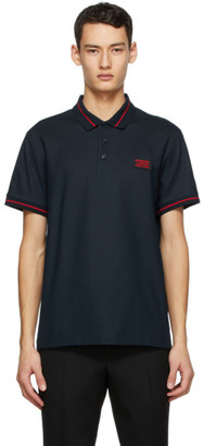 Burberry Navy Logo Applique Polo