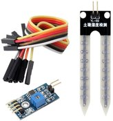 Solu Soil Humidity Hygrometer Moisture Detection Sensor Module Arduino with Dupont Wires