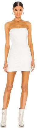 Sprwmn Embossed Strapless Dress