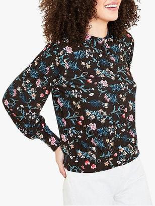 Oasis Trailing Floral Blouse, Multi/Black