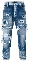 DSQUARED2 Glamhead layered distressed jeans