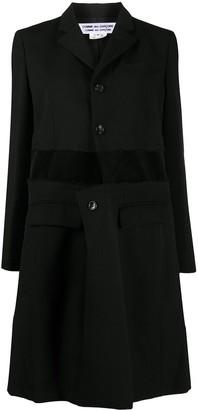 Comme des Garçons Comme des Garçons Stripe-Panel Single Breasted Coat